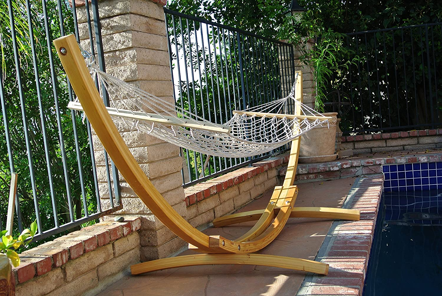review hammock woodenarc wooden arc with stand