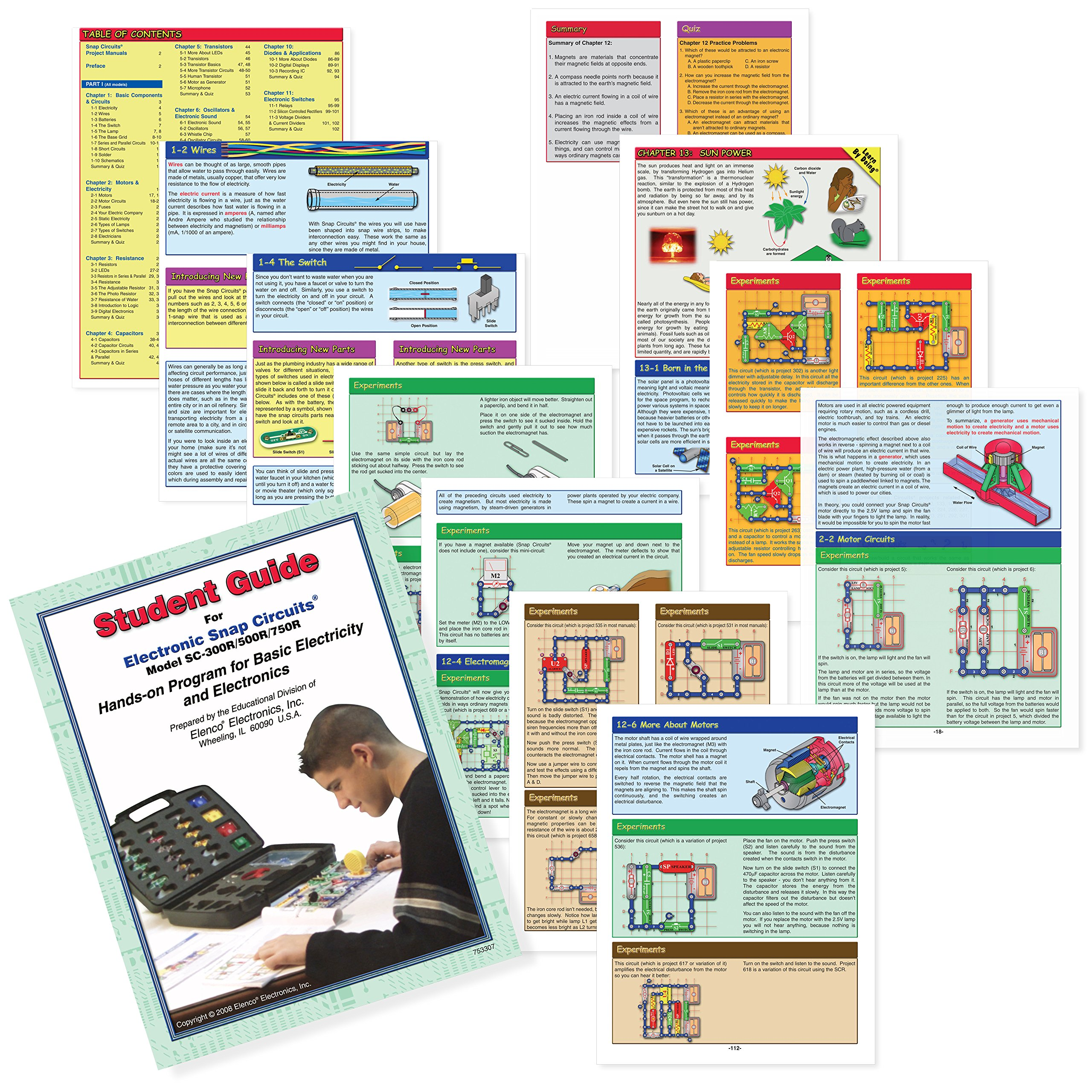 Snap Circuits PRO SC-500 Electronics Exploration Kit + Student Training Program with Student Study Guide   Perfect for STEM Curriculum by Snap Circuits (Image #7)