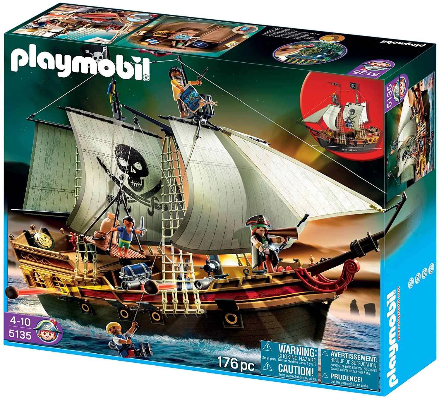 Amazon.com: PLAYMOBIL Pirates Ship (Discontinued by manufacturer): Toys &  Games