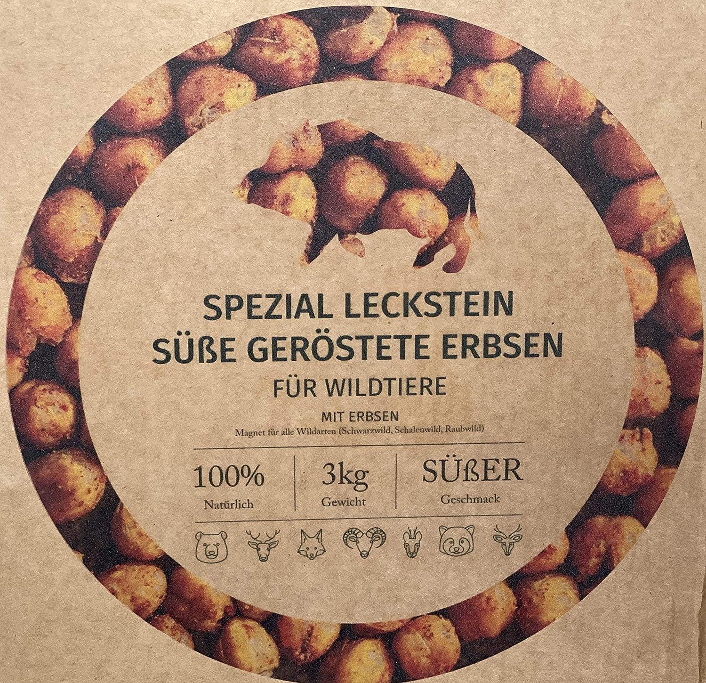 Wildlutscher Spezial Leckstein Süße geröstete Erbsen für Schwarzwild