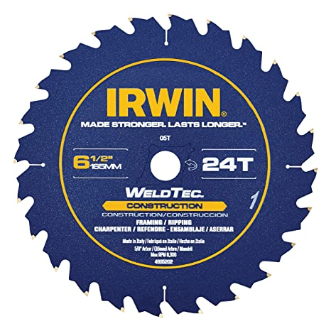 IRWIN Tools Classic Series Steel Corded Circular Saw Blade, 7 1/4-inch, 24T (25130) - - Amazon.com