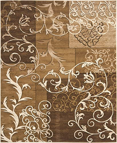 Safavieh Timeless Fashion Collection TFA2650-1491 Dark Beige and Ivory Area Rug 8 x 10