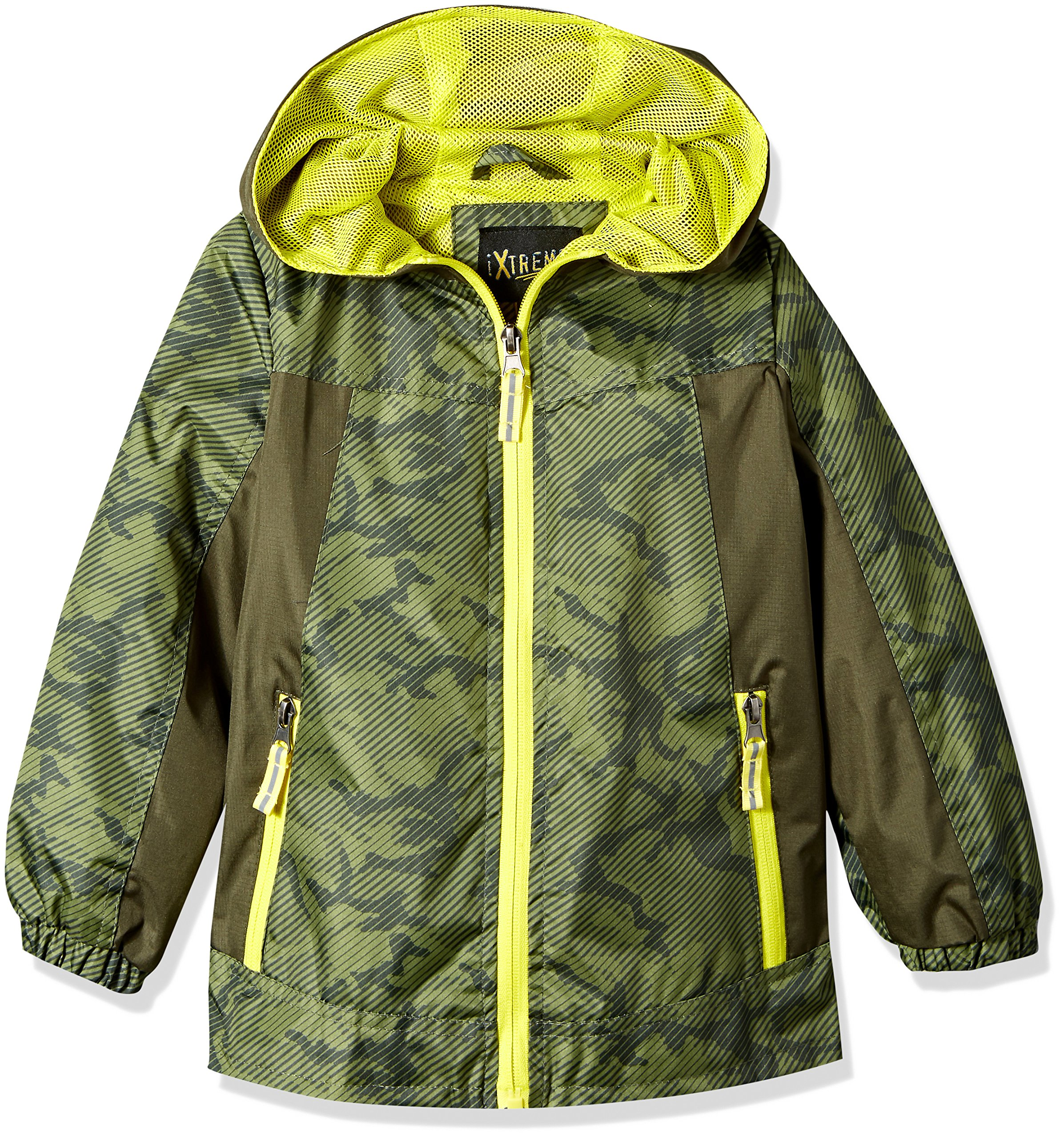 iXtreme Big Boys' Ripstop Active Jacket with Mesh Lining, Olive, 14/16