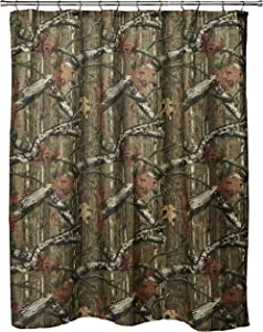 Mossy Oak Camouflage Shower Curtain, 70Wx72L, Green