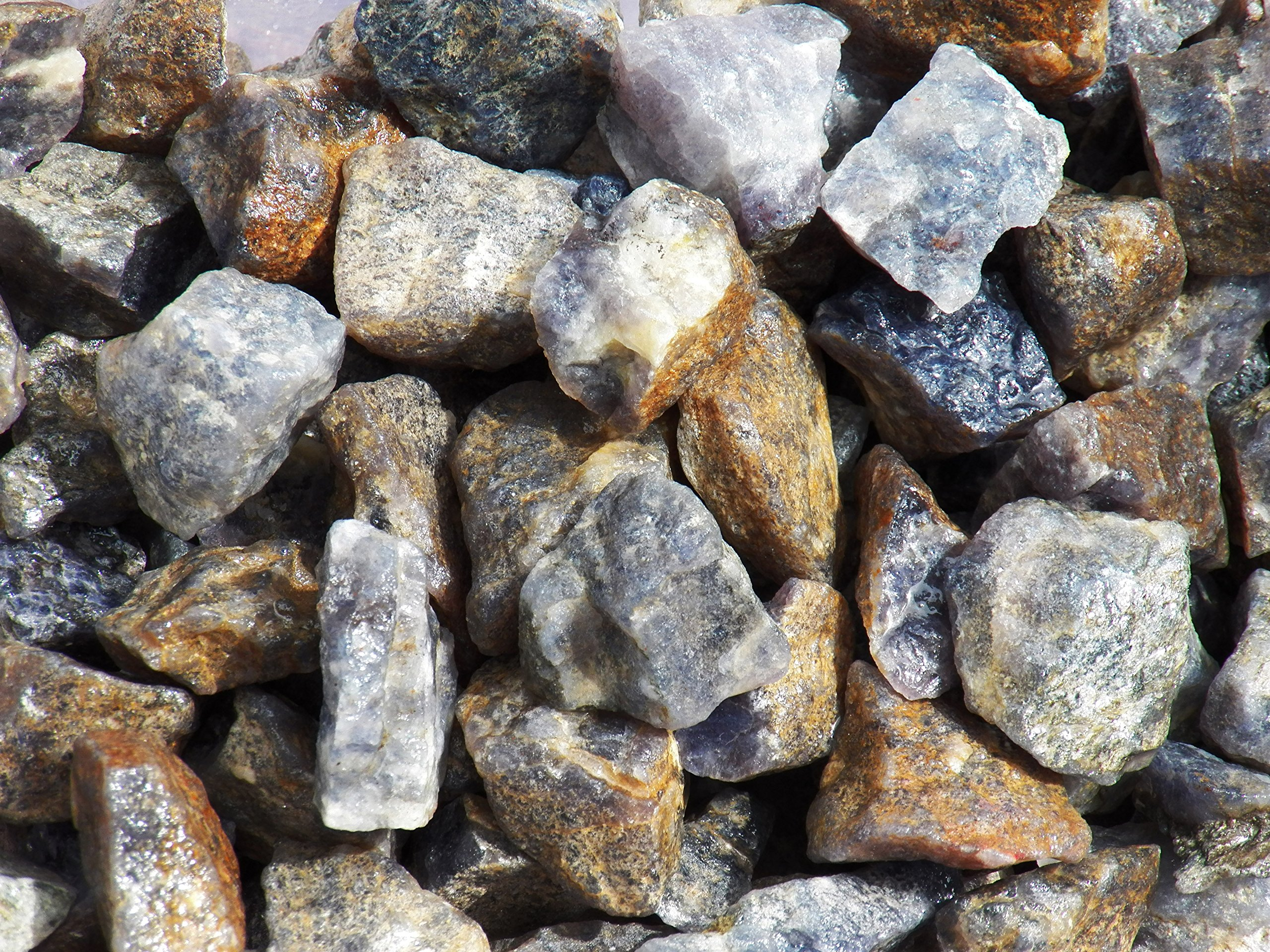 Fundamental Rockhound Products: Rough IOLITE Natural Rock for Tumbling, Metaphysical Use, Gemstones Healing Crystals * Wholesale Lot * ... from India (11 lb)