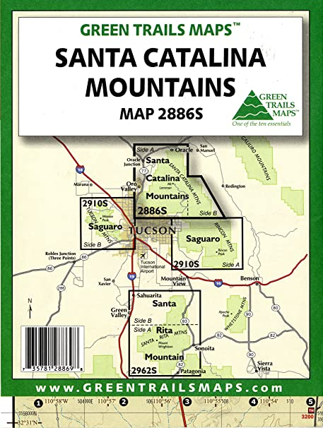 Amazon.com: Santa Catalina Mountains (Hiking / Mountain Biking ...
