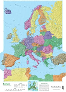 World map timezones country flags giant poster 100cm x map of europe publicscrutiny Images