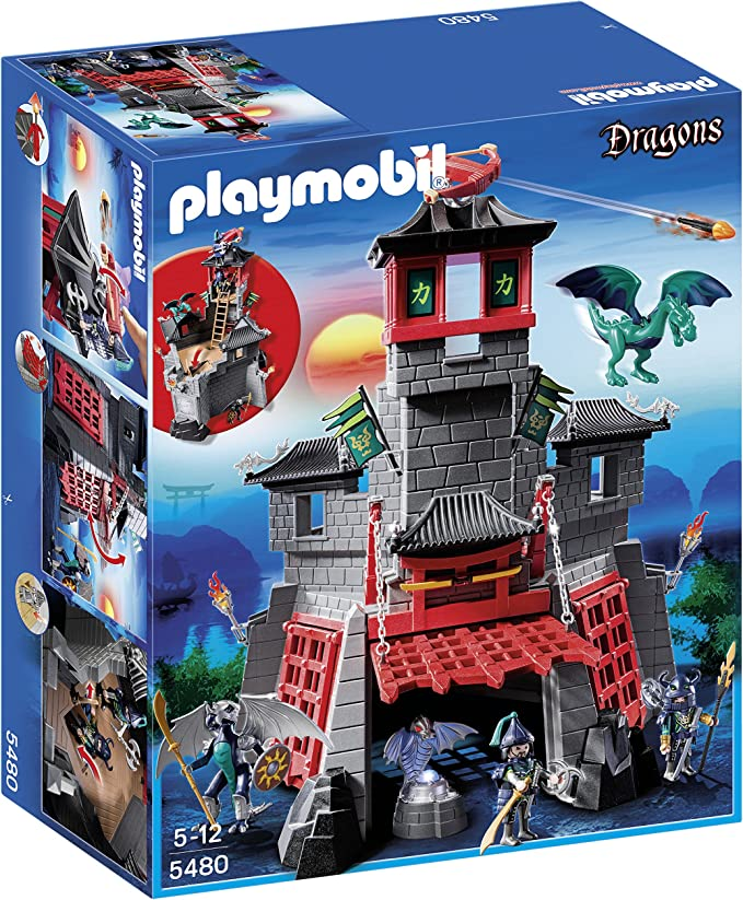 PLAYMOBIL Dragones - Fortaleza Secreta del dragón (5480): Amazon ...