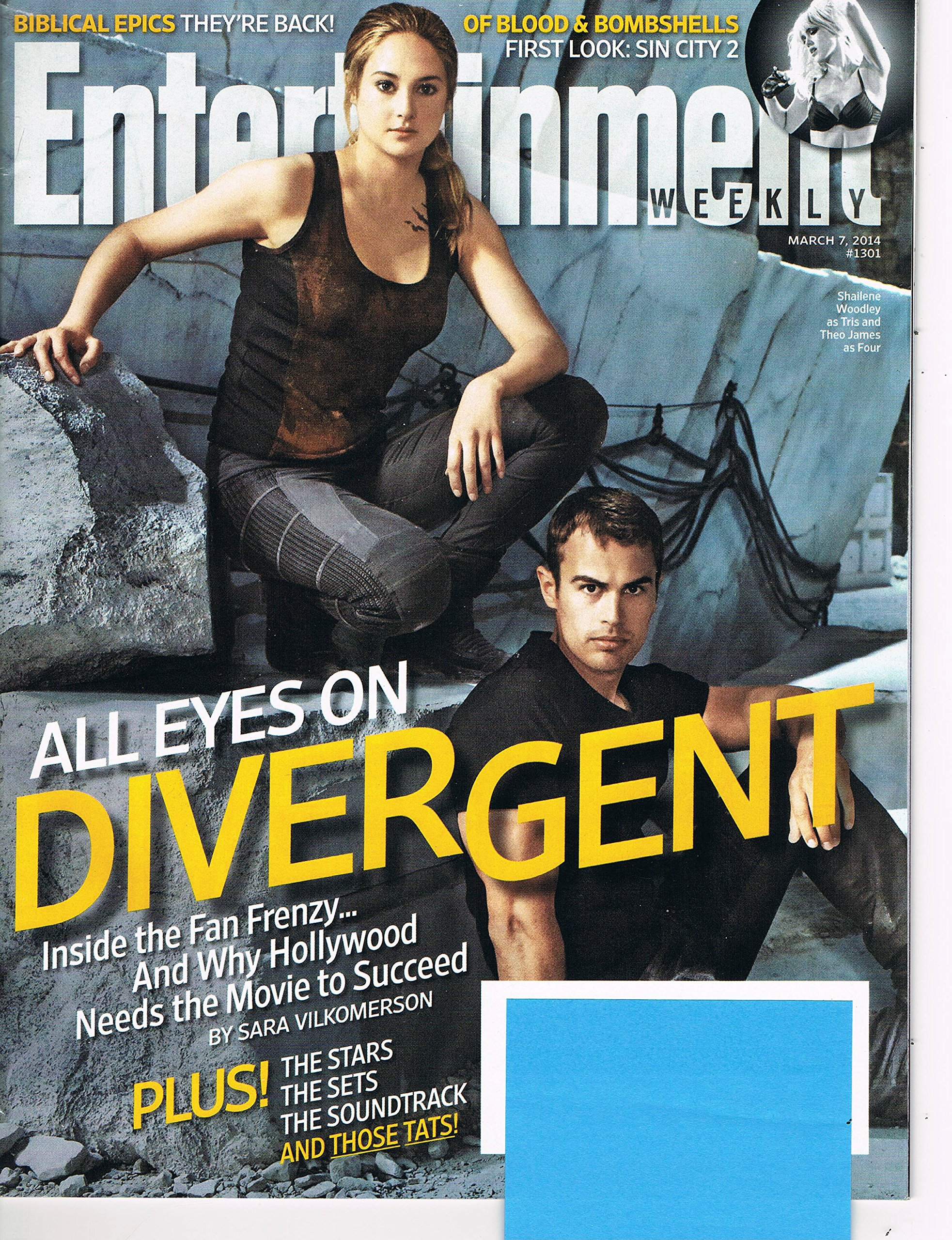 Entertainment Weekly March 7, 2014 Shailene Woodley and Theo James All Eyes on Divergent pdf epub