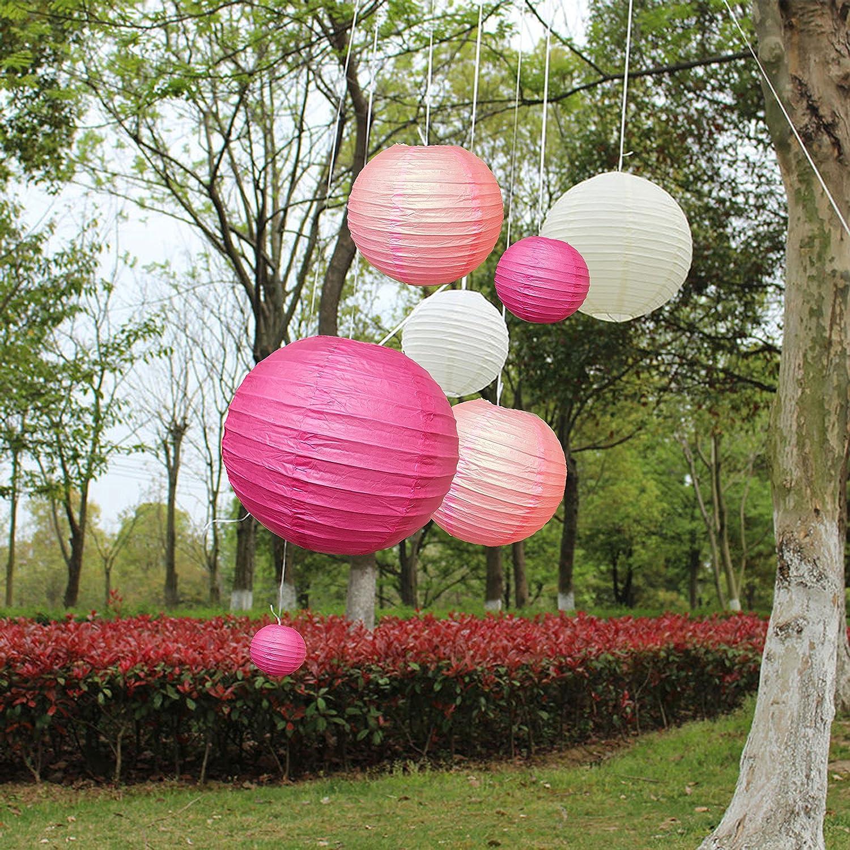18 Pc Paper Round Lantern for Birthday Bridal Wedding Baby Shower ...