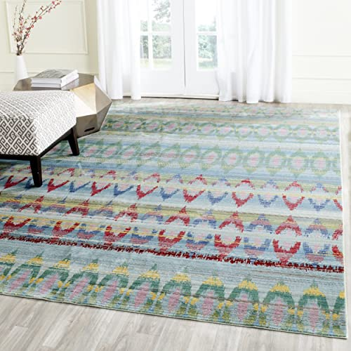 Safavieh Cape Cod Collection CAP202B Handmade Beige and Multicolored Jute Area Rug 5 x 8