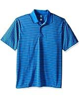 PGA TOUR Men's Short Sleeve Airflux Stripe Polo, Palace Blue, X-Large