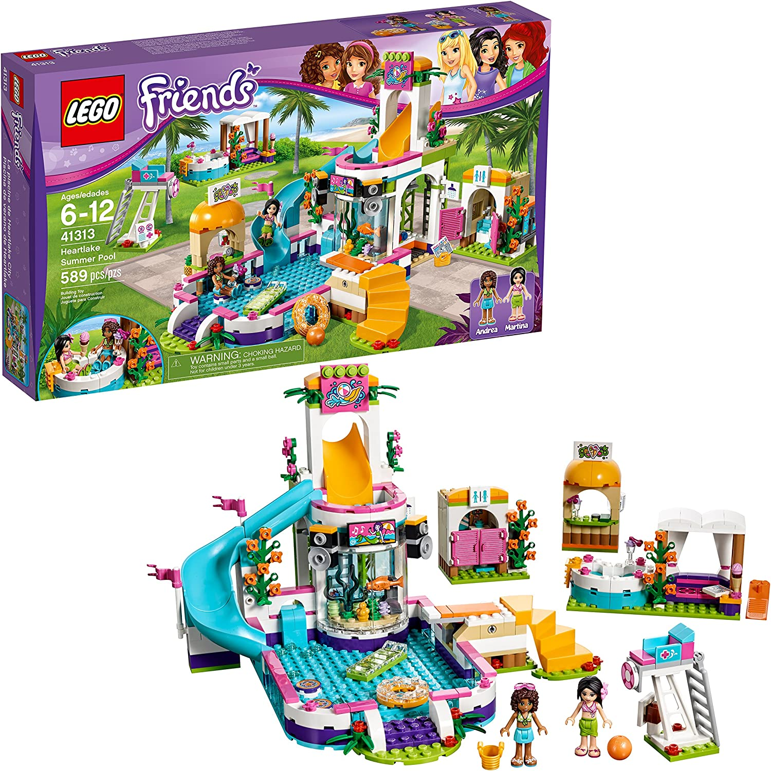 LEGO FRIENDS HEARTLAKE SUMMER POOL 41313 NEW//BOXED//SEALED