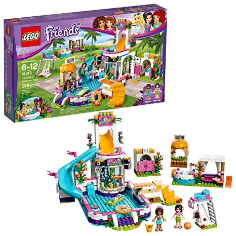 Amazoncom Lego Friends Heartlake Summer Pool 41313 Toys Games