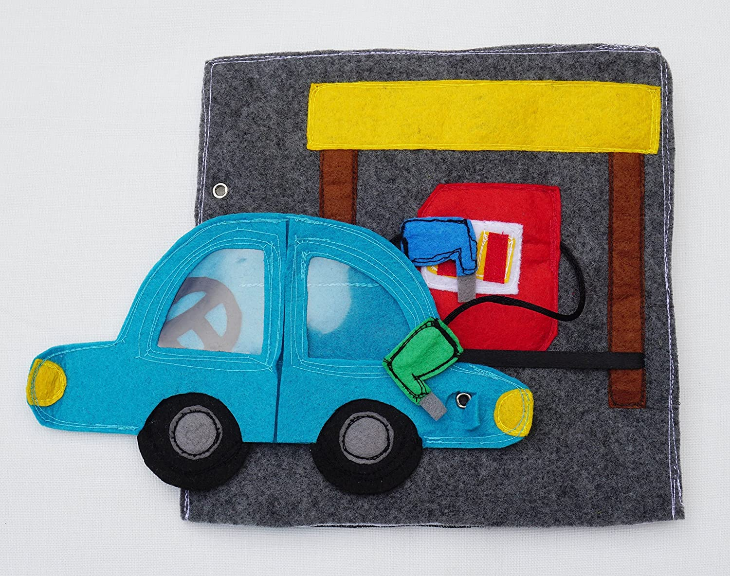 Birthday Gift For Toddlers Activity Page Gas Station Quiet Book Page