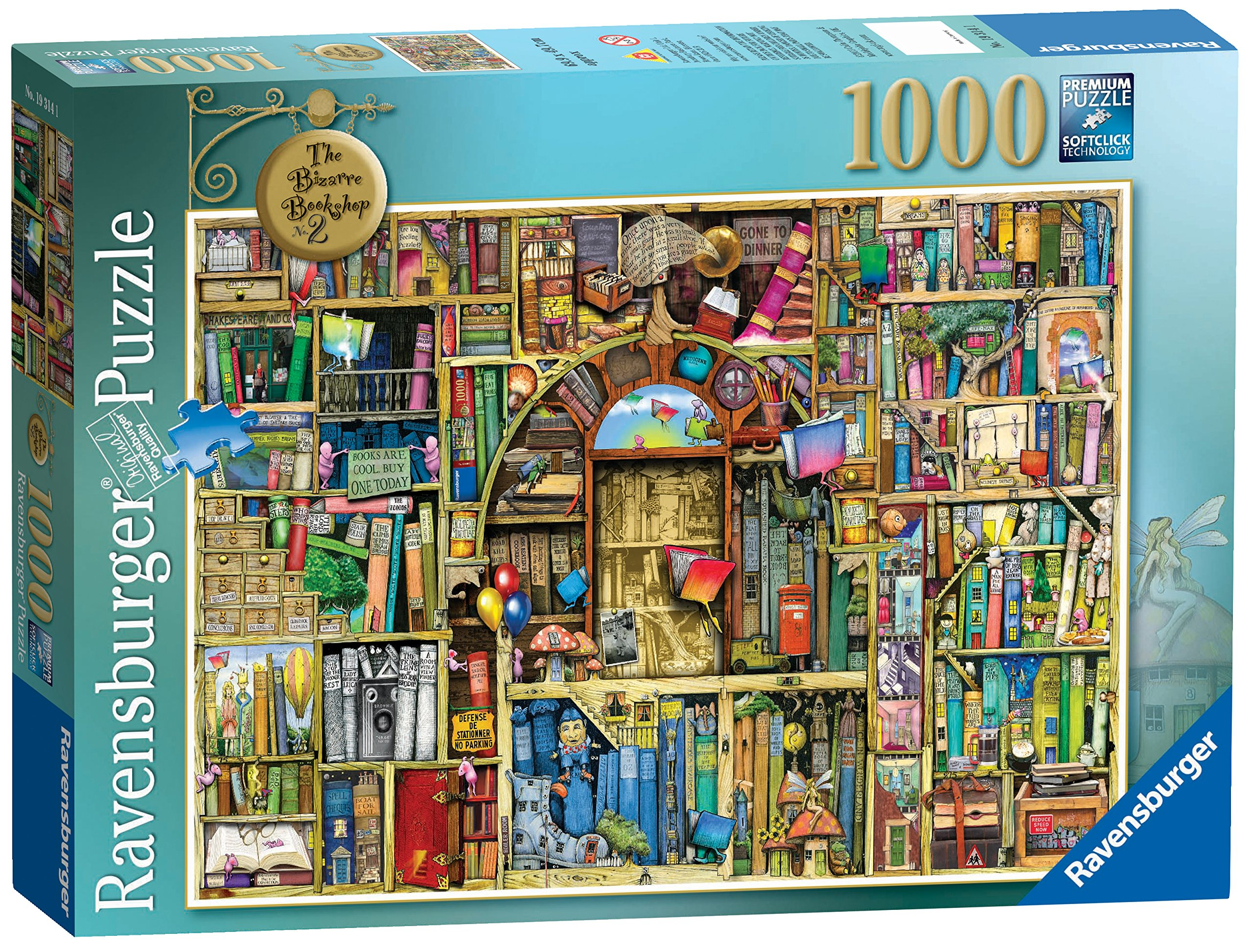 Ravensburger Bizarre Bookshop 2 1000 Piece Jigsaw Puzzle for Adults - Every Piece is Unique, Softclick Technology Means Pieces Fit Together Perfectly by Ravensburger