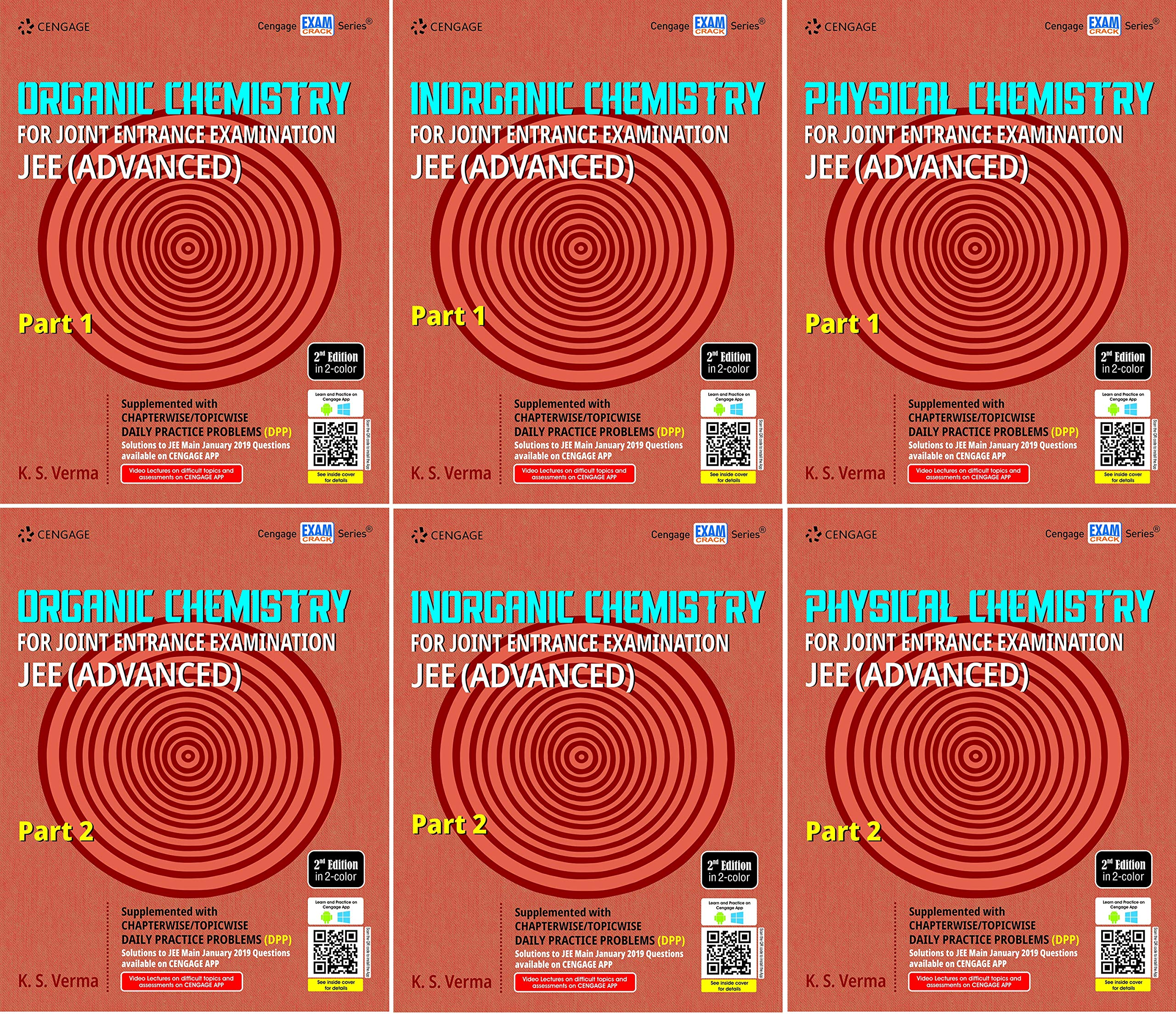 Cengage Chemistry 6 Books set for JEE ADVANCED