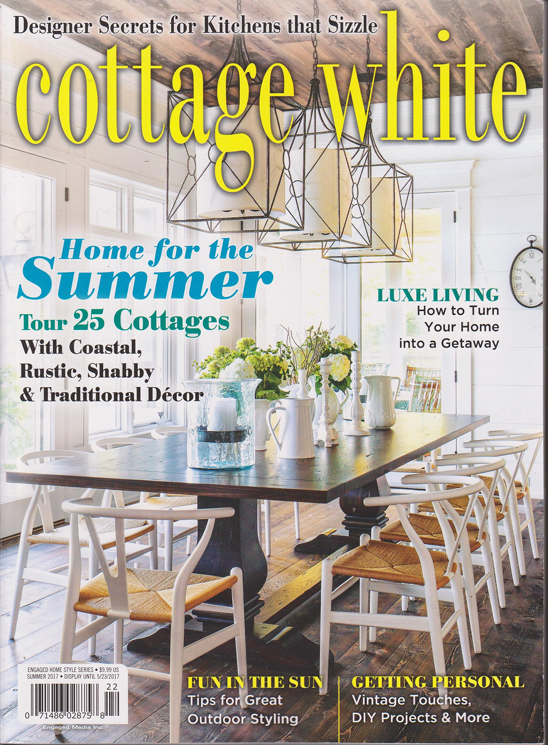 Amazing Cottage White Magazine Summer 2017 Amazon Com Books Home Interior And Landscaping Ymoonbapapsignezvosmurscom