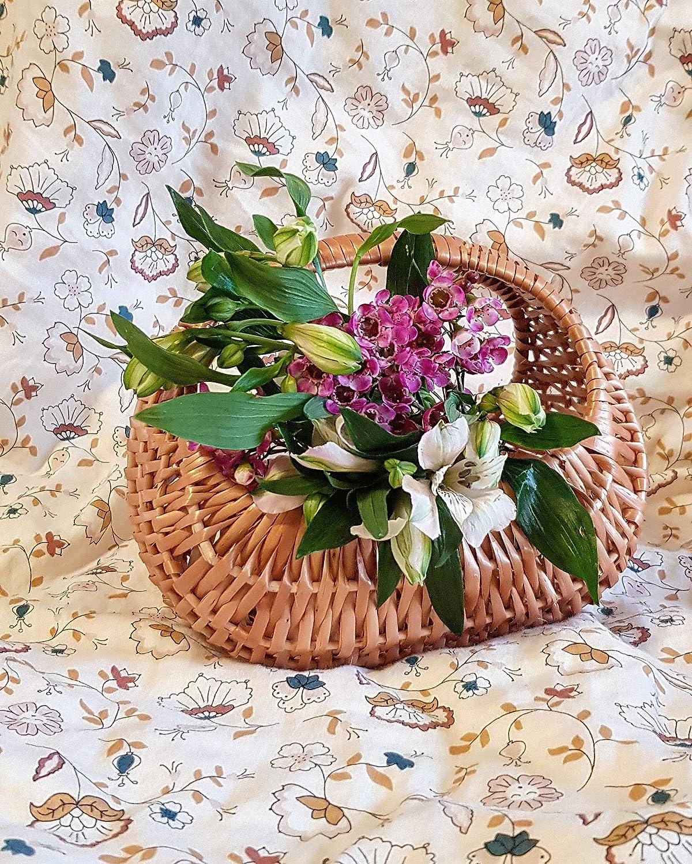 Childrens Basket Easter Basket Flower Basket Wicker Storage Basket Shopping Basket