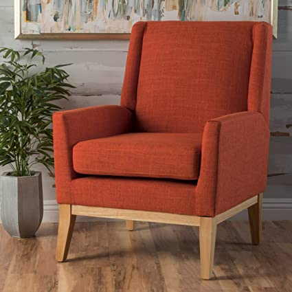 Archibald Mid Century Modern Fabric Accent Chair (Orange) & Amazon.com: Archibald Mid Century Modern Fabric Accent Chair (Orange ...