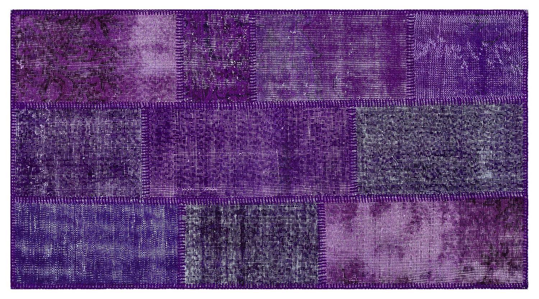 Bespoky パッチワークユニーク 手織 ラグ 紫の 小さいサイズ 80 X 150 Cm   B07HNC6CJC