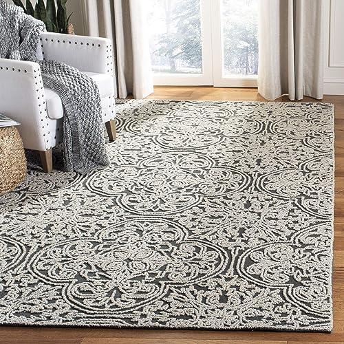 Safavieh Trace Collection Handmade Area Rug, 8 x 10 , Dark Light Grey