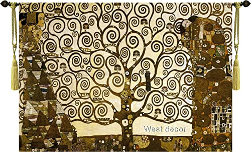 Stoclet Frieze By Gustav Klimt 55 w X 39 l Tree of Life ART Wall Hanging Tapestry Home Decor