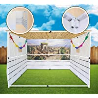 Sukkot Hadar Large 8X10 Foot TelescopicSukkah Set: Portable, Adjustable to 24Sizes Kosher Certified Jewish Holiday…