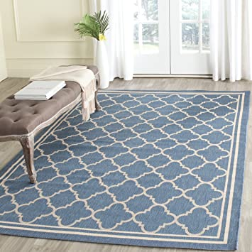 Amazon.com: Safavieh Courtyard Collection CY6918-243 Blue and ...