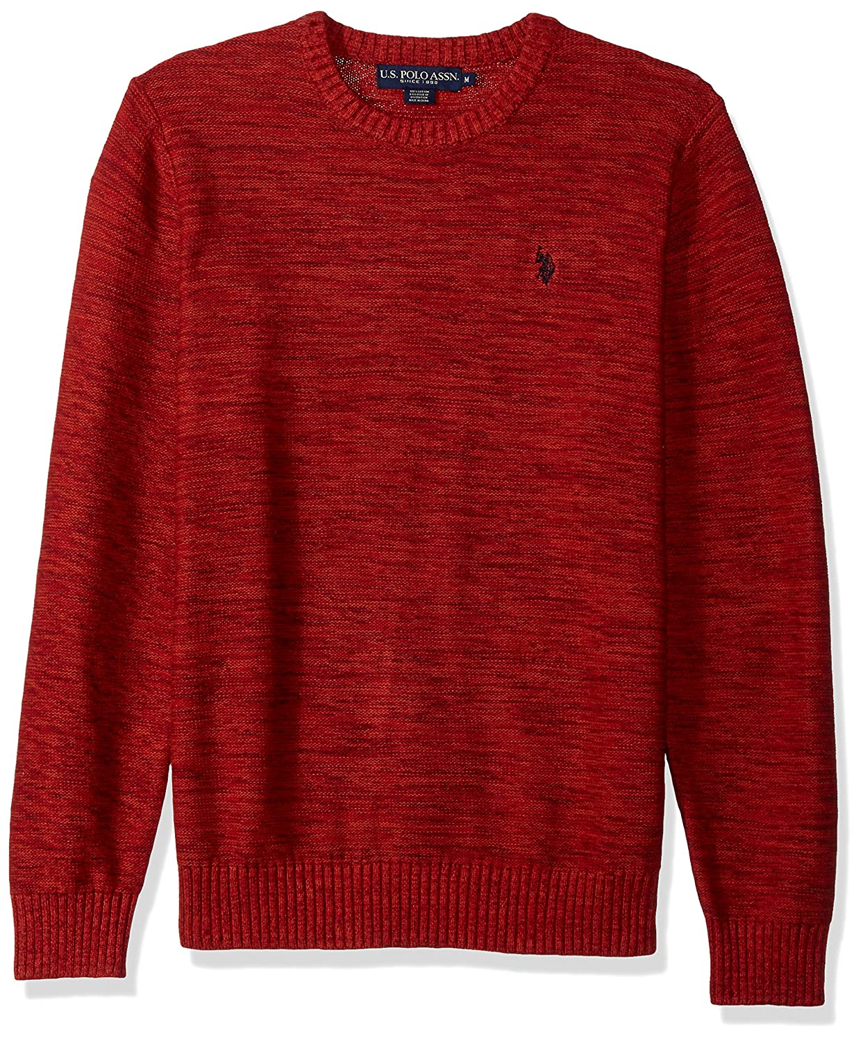 U.S. Polo Assn. Men's Marl Reverse Jersey Crew Neck Sweater ACUF7S5827