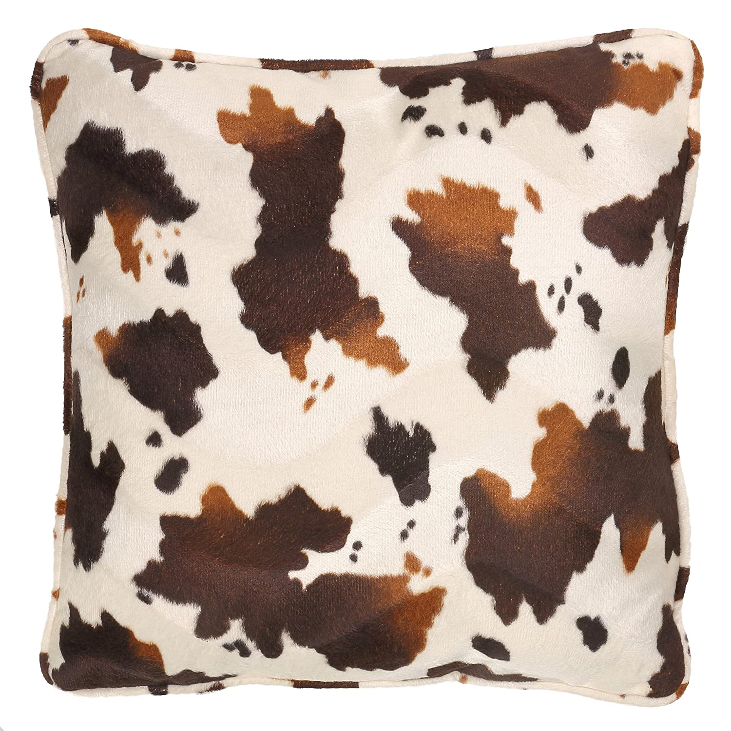 Brown and White Pony Fabric CH-AP380106 Cortesi Home Square Accent Pillow