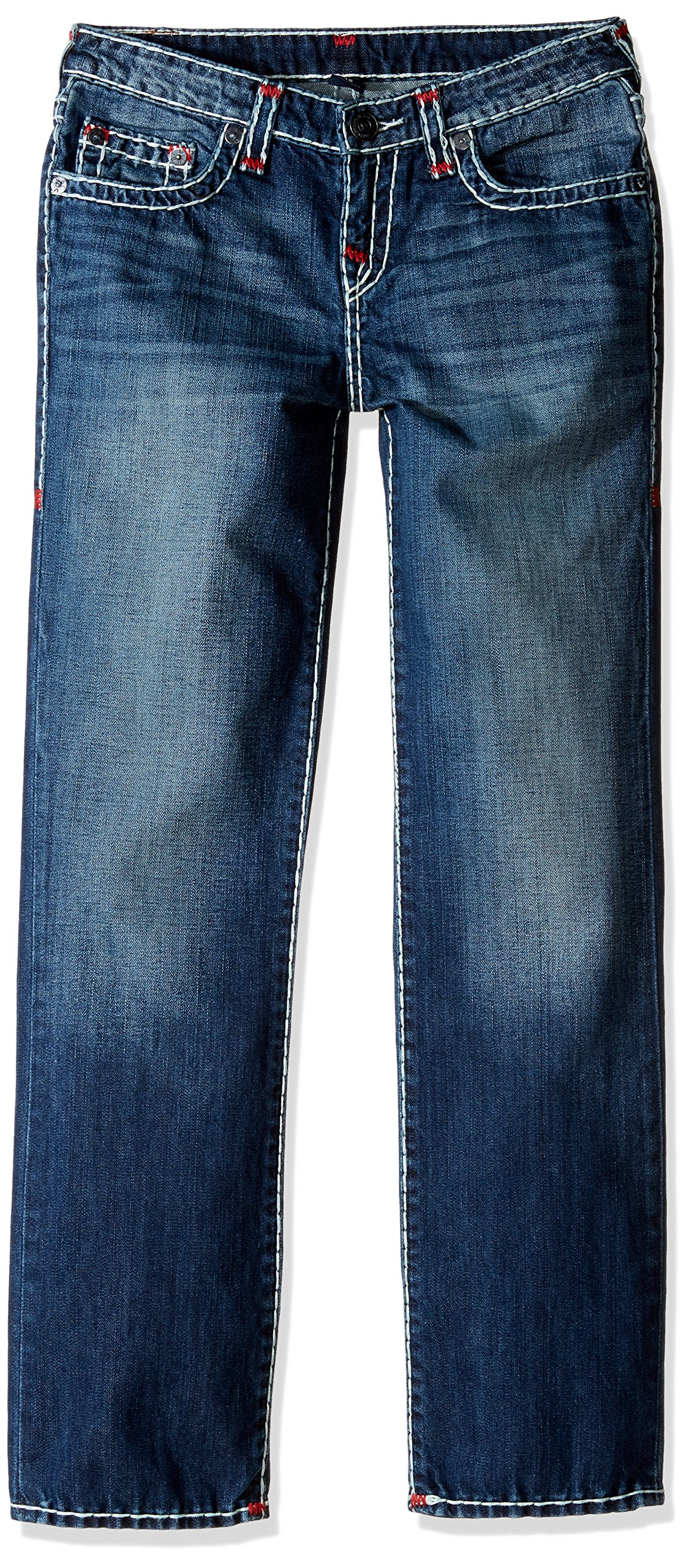 True Religion Boys' Ricky Contrast Super T Jeans, Grand Wash, 5
