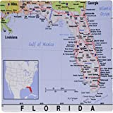 Florida Cities Map.Rand Mcnally Notebook Florida State Map Rand Mcnally 9780528942280