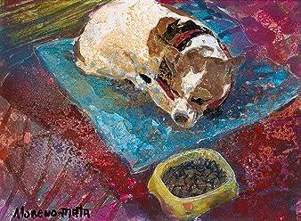 Sleeping Dog Original Handmade Painting