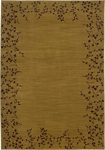 Sphinx Allure Area Rug 004B1 Gold Leaves Buds 9 10 x 12 9 Rectangle