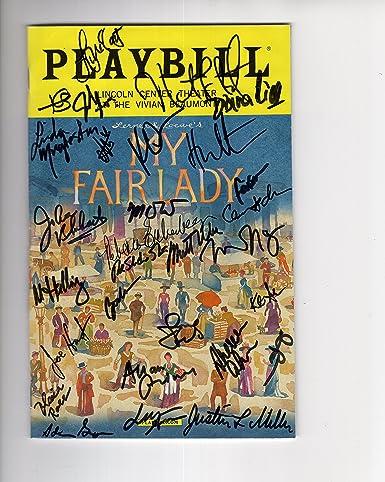 Autographs-original Theater My Fair Lady Cast Signed Playbill