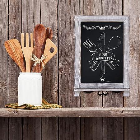 Amazon.com: HBCY Creations - Pizarra de madera rústica con ...