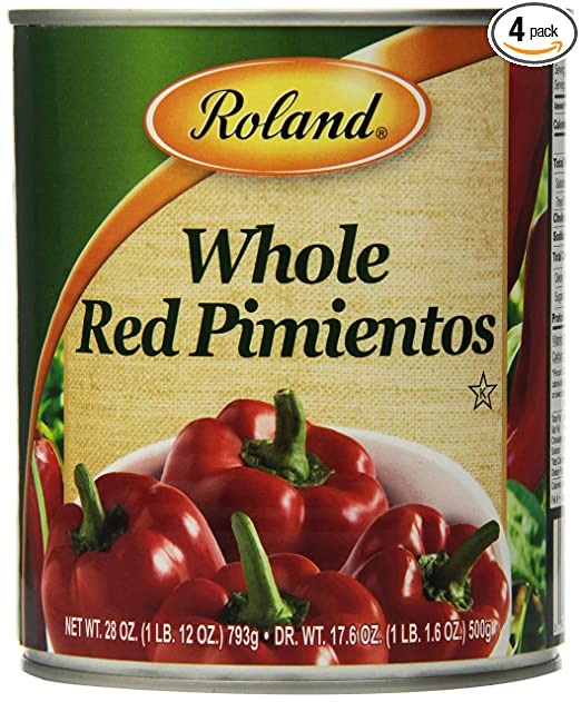 Amazon.com : Roland Red Pimientos, Whole, 28 Ounce (Pack of 4) : Fresh Sweet Peppers Produce : Grocery & Gourmet Food