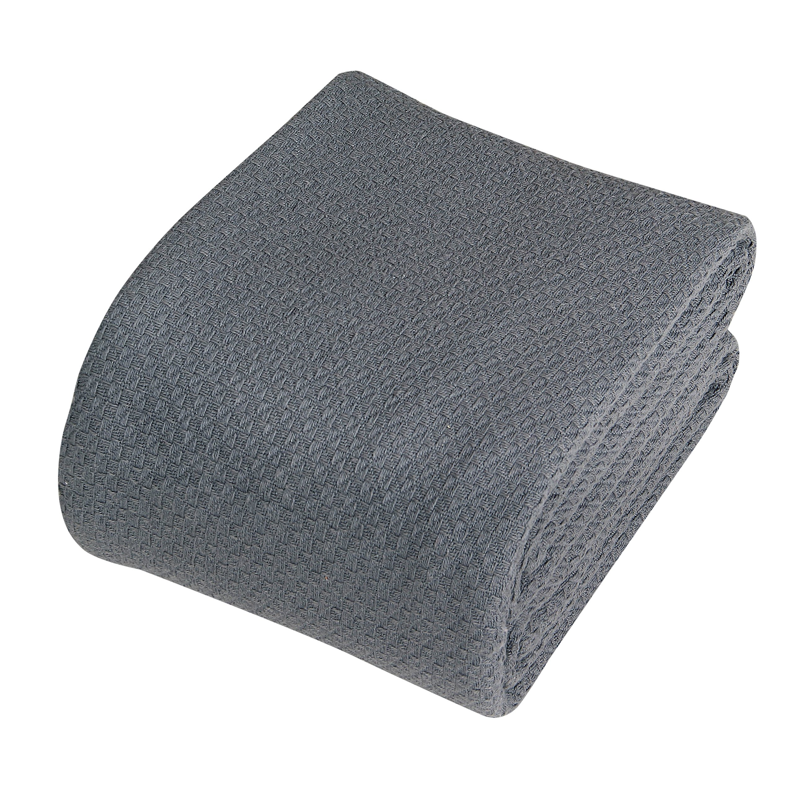 IntradeGlobal Luxury Super Soft Cotton Blankets, Full/Queen, Dark Grey by IntradeGlobal