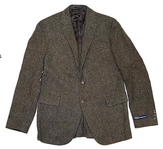 2c7d87ef1fb3 Polo Ralph Lauren Men Virgin Wool Blazer Sport Coat Jacket Italy Green  Brown 40L