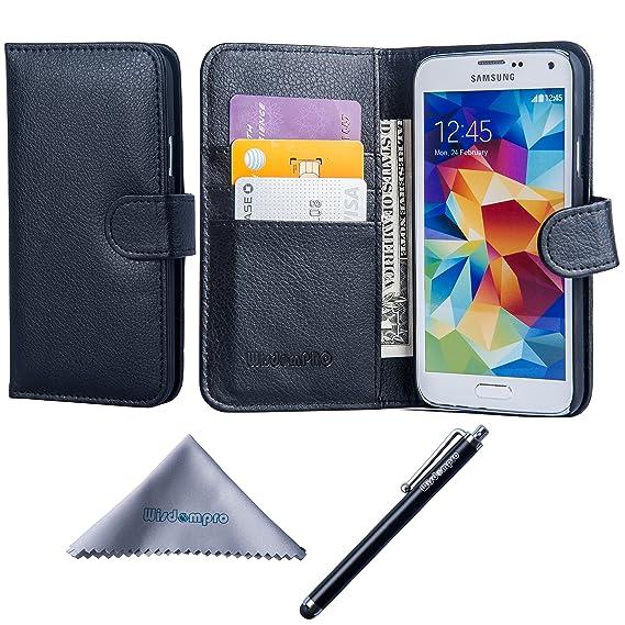 amazon com galaxy s5 case, wisdompro premium pu leather 2 in 1