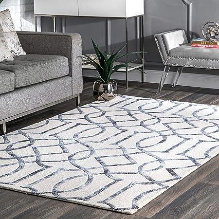 Nuloom Satara Moroccan Trellis Wool Rug 3 X 5 Silver Furniture Decor Amazon Com
