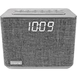 iHome iBT232 Bluetooth Dual Alarm FM Clock Radio with Speakerphone and USB Charging -Gray