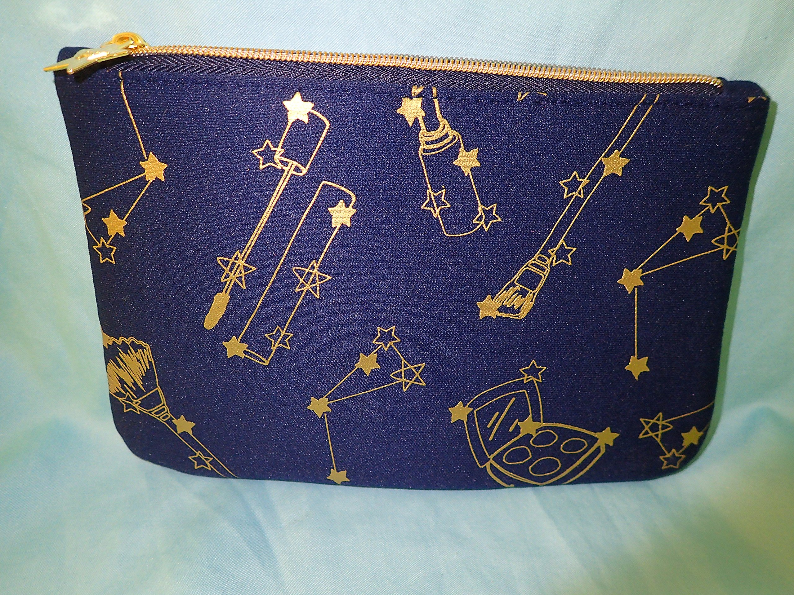 495191ee8f Ipsy November 2016 Navy Blue Makeup Design Zippered Cosmetics Bag
