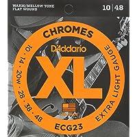 D'Addario ECG23 Juego de Cuerdas para Guitarra Eléctrica, Plateado
