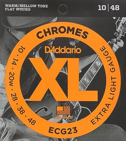 DAddario ECG23 Juego de Cuerdas para Guitarra Eléctrica, Plateado