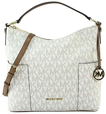 a6a79e3c1b75 Michael Kors Anita Signature Medium Convertible Handbag Vanilla Acorn  35H7GA8L7B-149  Amazon.co.uk  Shoes   Bags