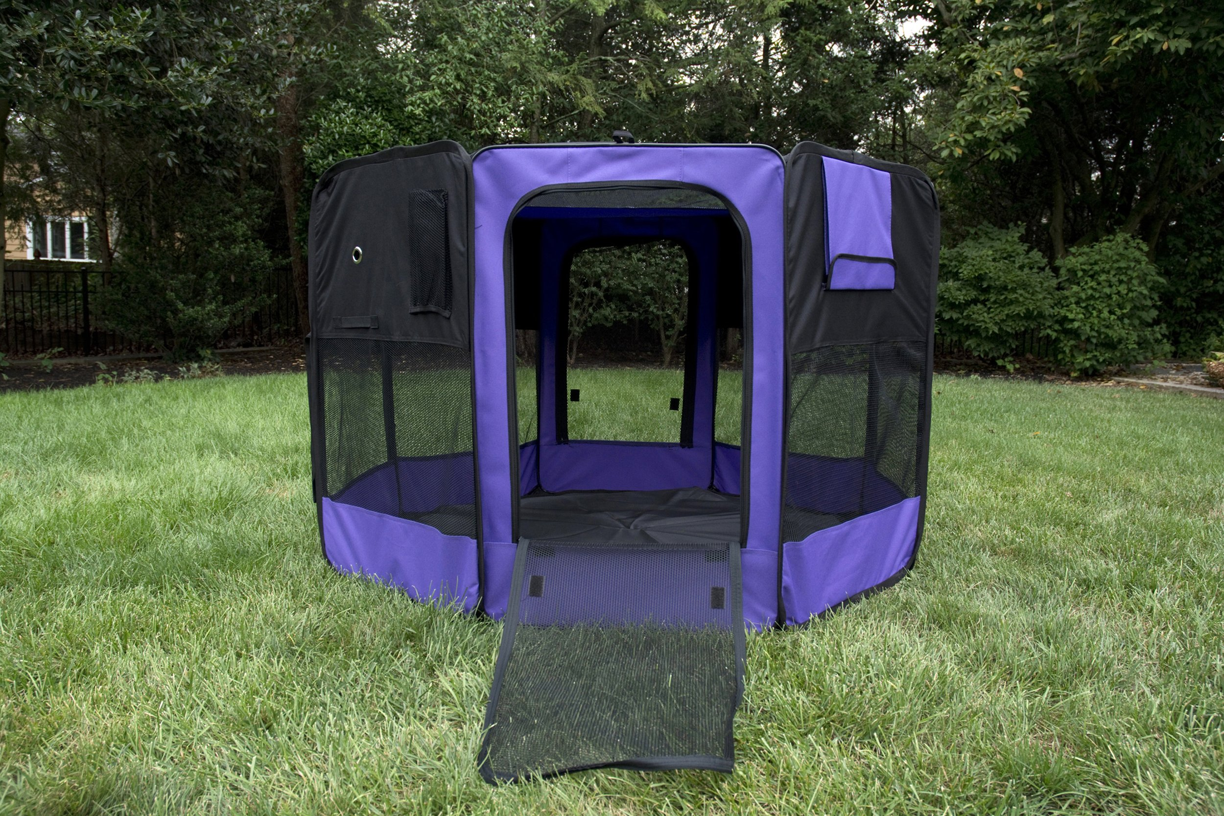 Iconic Pet Portable Pet Soft Play Pen, Purple, Small by Iconic Pet (Image #8)