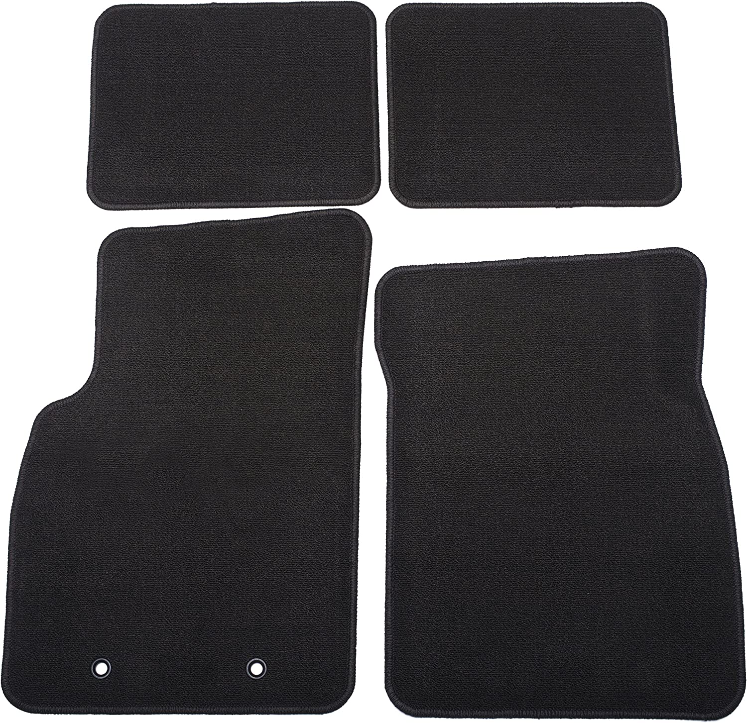 GM Accessories 25924339 Front and Rear Carpeted Floor Mats in Cocoa