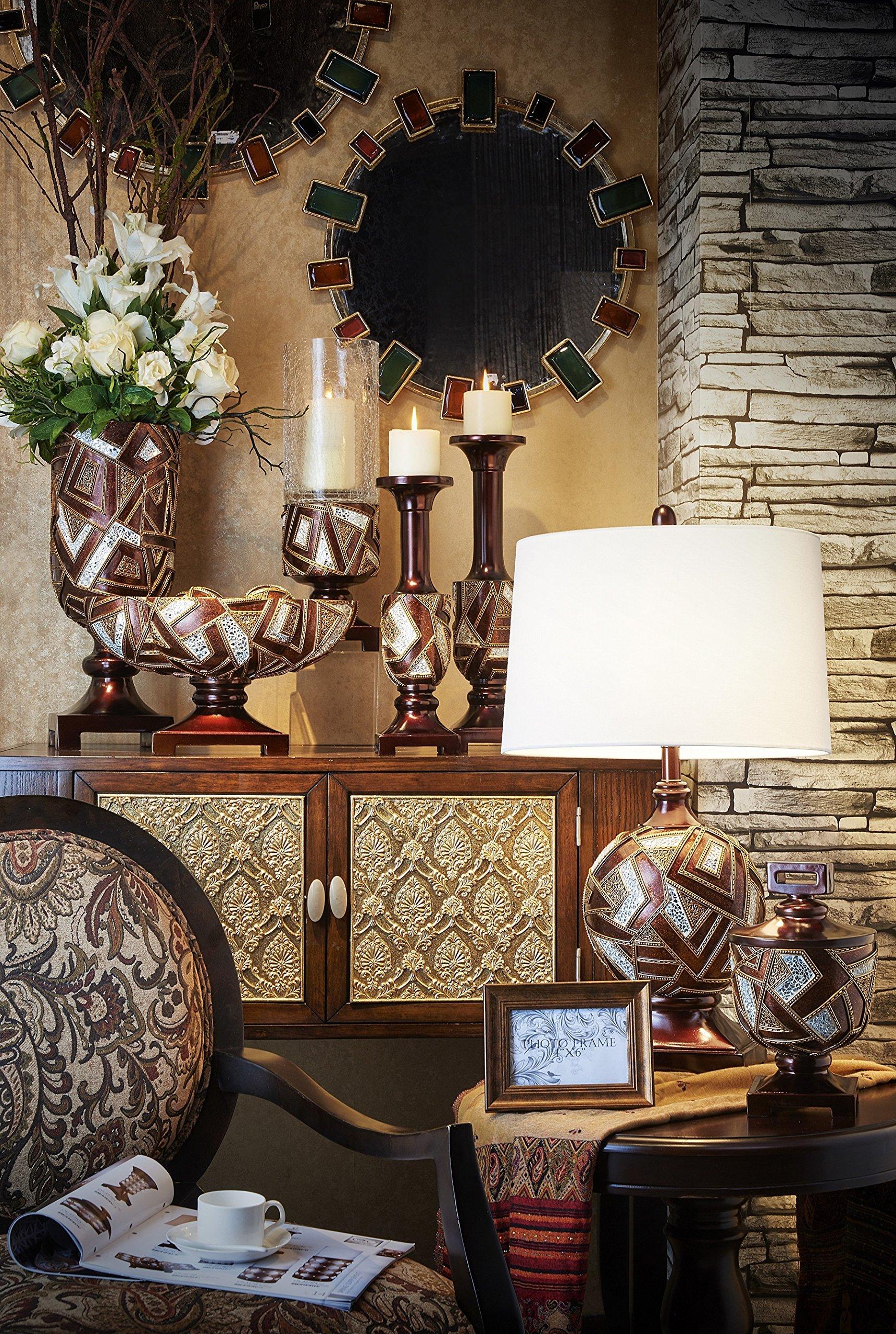 OK Lighting 10'' H Polymosaic Decorative Bowl with Spheres by OK Lighting (Image #2)